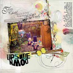 Hanging Upside Down Supplies:  Anna Aspnes: ArtPlay Palette Happy Life, Sparkle Edge Overlays No1, Multi Media Branches No2, Multi Media Balloons No1, Children ...