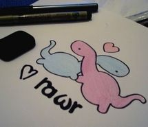 Inspiring picture cute, dinosaur, draw, kawaii, love, rawr. Resolution: 800x532 px. Find the picture to your taste!
