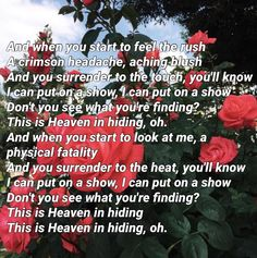 Heaven In Hiding // halsey