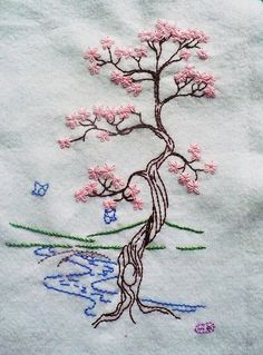 Cherry Tree This is my favorite work so far! And its for a swap too! blogged: elementalstitches.typepad.com/my_weblog/2007/09/swaps-and...