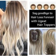 Remy Top Hairpiece for Women Ombre Brown to Blonde Crown Hand-made Toppee Human Hair Clip Ins, Remy Human Hair, Summer Hairstyles, Wig Hairstyles, Tapas, Clip In Hair Pieces, Hairpieces For Women, Real Hair Wigs, Hair Secrets