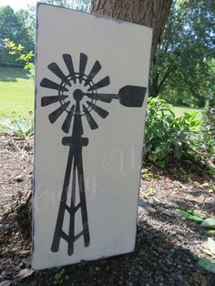 Windmill Wooden Sign by CraftyWinds1 on Etsy
