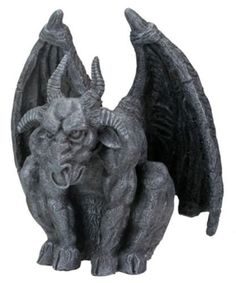 """Ram Horn Goat Head Gargoyle Statue Mythical Figure Ram Horn Gargoyle Resin Figure / Statue. Great for the Desk or Office or any Home Decor. · L: 5.25"""" x W: 5"""" x H: 6"""" · Very detailed and well sculpted"""