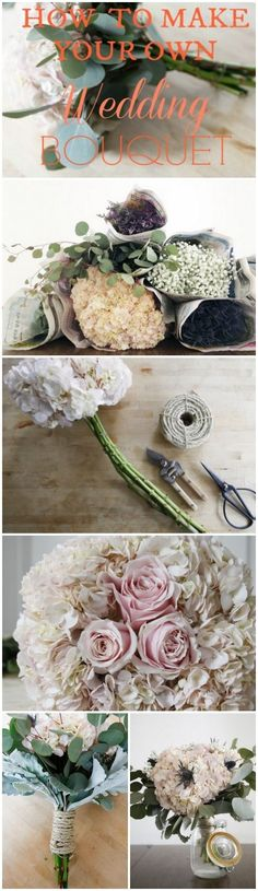 Easy Step By Step Directions How To Make Your Own Bouquet.  FYI I made all the bouquets for our daughter's wedding.  It wasn't difficult, and I saved a ton of money. save money on wedding, frugal wedding ideas #wedding #frugal