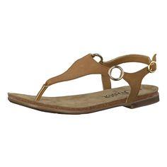 Die s.Oliver Sandaletten sind aus hochwertigem Leder gefertigt. Der Zehensteg ist robust und mit einer Verstärkung in goldener Optik verziert.   - dekorative Metall-Details - Fersenriemen mit Schnalle und Dornschließe - Schuhspitze: Offen - Verschluss: Schnalle - Absatzart: Flach  Obermaterial: Leder Decksohle und Futter: Leder Laufsohle: Sonstiges Material  Materialzusammensetzung: Decksohle: ...