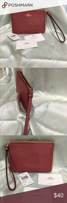 NWT Coach Wristlet Brand new Coach 58032 Corner Zip Wristlet, Authentic brand with tag. Coach Accessories