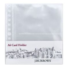 J.Burrows A6 Organiser Business Card Holders 5 Pack