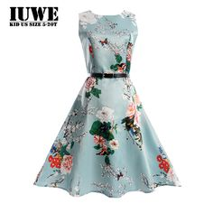 >> Click to Buy << Summer Dress for Girls Floral Pattern Children's Clothes for Girls Blue O-neck Girls 2017 Spring New 12 14 Children's Prom Dress #Affiliate