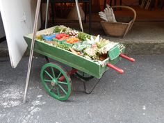 1950's Store Window display with paper Fruits and Vegetables - July 27, 2014