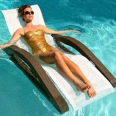 Outdoor furniture that floats! The perfect lounge to use by or in the pool. This looks heavenly.makes me wish for a pool. Used Outdoor Furniture, Cheap Patio Furniture, Urban Furniture, Kitchen Furniture, Luxury Furniture, Furniture Logo, Street Furniture, Furniture Outlet, Antique Furniture