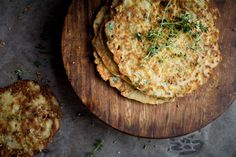 Savory Zucchini Pancakes by Indiaphile.info