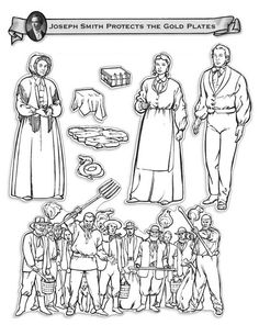 Chapter 1 How We Got The BOM Joseph Smith Receives Gold Plates Coloring Page