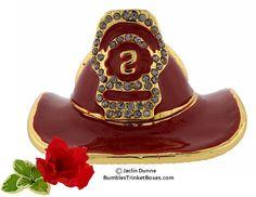 Trinket Box: Firemans Hat Trinket Box