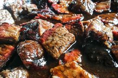 How to make Best-ever BBQ Brisket Burnt Ends - Jess Pryles Barbacoa, Smoker Recipes, Grilling Recipes, Brisket Burnt Ends, Small Grill, Bbq Brisket, Smoke Bbq, Bbq Party, Smoking Meat