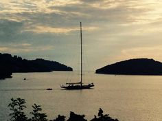 Sailing in the beauty of Vela Luka