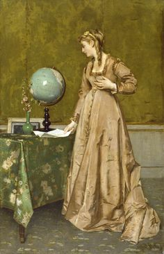 """News from Afar"" 1860   ALFRED STEVENS  art movement: Academic art  nationality: Belgian"