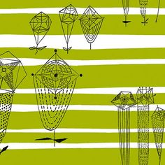 Trio fabric by Lucienne Day (reissued)