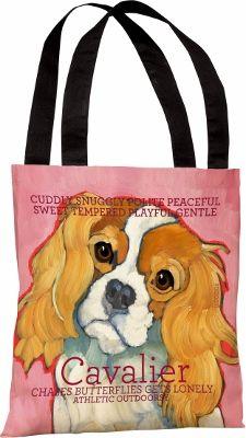 Cavalier Designer Dog Tote Bag - $20.05