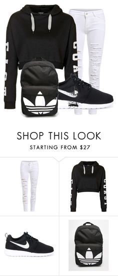 """Untitled #35"" by dianabarrera-1 on Polyvore featuring Topshop, NIKE, adidas, women's clothing, women, female, woman, misses and juniors"