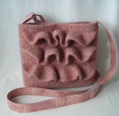 Knitting Pattern PDF - Felted Wool Nashville Hipster Bag - purse shoulder bag handbag -  includes tutorial for fabric strap and lining on Etsy, $5.95