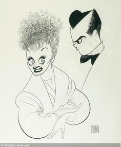 """I Love Lucy"" by Al Hirschfeld"