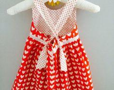 Sweetheart dress baby girl - Modifier la fiche - Etsy