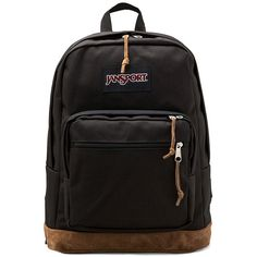 Jansport Right Pack Backpack Handbags ($58) ❤ liked on Polyvore featuring bags, backpacks, accessories, black, jansport backpack, backpack laptop bag, backpacks bags, laptop bag and jansport rucksack