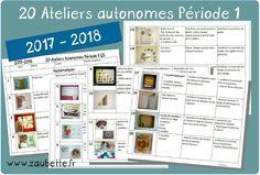 20 ateliers autonomes individuels GS pour la période 1