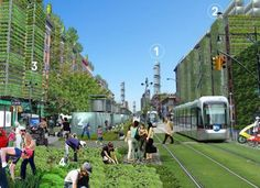 Green Ideas Turn New York City into Efficient Urban Farming Area - The Concept of the Eco-city Sustainable City, Sustainable Design, Sustainable Architecture, Urban Agriculture, Urban Farming, Urban Gardening, Gardening Hacks, Hydroponic Gardening, Indoor Gardening