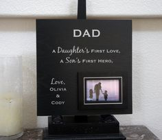 Father of the bride  Black Silver  Personalized by Frameyourstory, $75.00