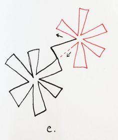 A Few Scraps: FMQ weekly: Asterisks* Quilting Design