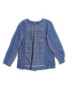 jcrew printed blouse - $20