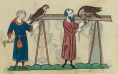 FRÉDÉRIC II , traité de fauconnerie , traduction française, faite à la demande de Jean, sieur de Dampierre et de Saint-Dizier, et de sa fille Isabelle.  Date d'édition :  1201-1300  Français 12400  Folio 135v