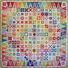 Oh I might just have to do my sampler quilt like this.  Ohhh.....