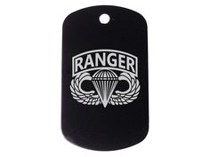 Airborne Ranger Black Dog Tag Custom Engraved By Ndz Performance ** Details can be found by clicking on the image. (This is an affiliate link and I receive a commission for the sales)