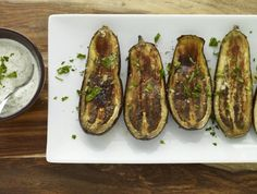 Roasted Eggplant with Garlic Yogurt Sauce Recipe