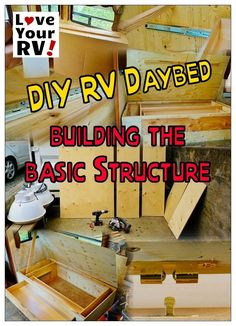 Finished the basic structure for my DIY RV daybed. Now we can look at making the box pretty and adding a mattress and cushions. I will need my artistic better half to help with that. I'm more the nuts and bolts type - http://www.loveyourrv.com/summer-interior-renovation-project-part-two-rv-daybed-build/