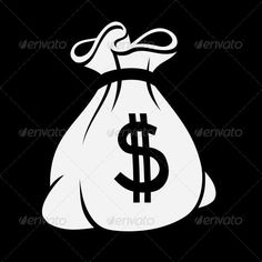 Buy Money Icon with Bag by In-Finity on GraphicRiver. Money icon with bag, vector. Sketch Tattoo Design, Tattoo Sketches, Elementos Del Hip Hop, Money Bag Tattoo, Money Icon, Australian Money, Money Logo, Rick And Morty Poster, Drawing Bag