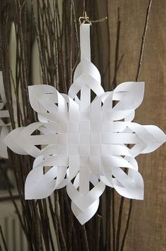 Woven snowflakes, how to