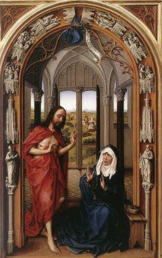 Todo Arte: PINTURA GÓTICA FLAMENCA: ROGiER VAN DER WEYDEN - Altare Miraflores ( 1428 )