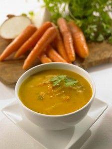 Recettes purifiantes - Soupe de carottes au gingembre