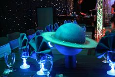 Method 42 Productions - Santa Clara, CA, United States. Non Floral Centerpeices - Outer Space event!