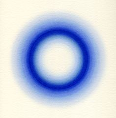 LARGER CHORUS VIII (Ultramarine), 2004 Watercolor on paper, 16.5 x 16.5 inches