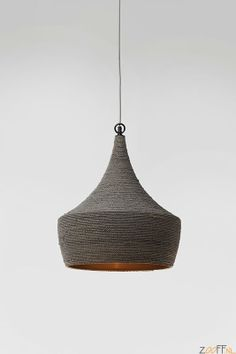 Kare Design Sisal Hanglamp Grijs Ø42cm