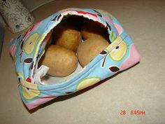 Potato Bag - A girl and a glue gun Gift to give :D Use to cook potatoes in the microwave.