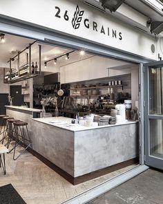 26 GRAINS Coffee Shop Interior Design, Coffee Shop Design, Cafe Design, Industrial Coffee Shop, Industrial Cafe, Coffee Shop Bar, Coffee Store, Cafe Restaurant, Restaurant Design