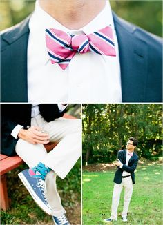 Going to have our groomsmen and Jeff in chucks and bowties for suuuure! Get ready! Just diffferent colors than these. Bow Tie Wedding, Wedding Groom, Wedding Suits, Wedding Attire, Blue Wedding, Dream Wedding, Groom And Groomsmen Attire, Groom Suits, Groom Dress