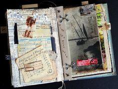 Memoire Artist Book Seth Apter - Curiosity Contained Art Journal Pages, Artist Journal, Art Journaling, Journal Cards, Kunstjournal Inspiration, Art Journal Inspiration, Journal Ideas, Smash Book, Altered Books