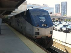 P42 on the point of a Downeaster at North Station