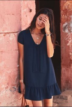 Nice Dresses, Casual Dresses, Short Dresses, Fashion Dresses, Dresses With Sleeves, Summer Dresses, Capsule Outfits, Capsule Wardrobe, Fashion Mode